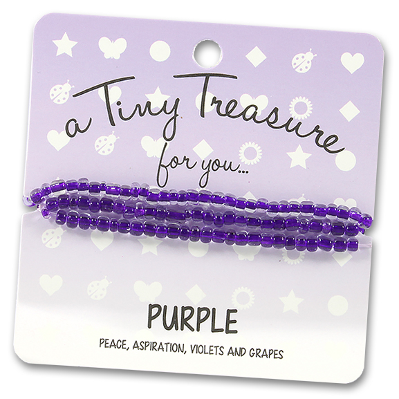 Tiny Treasures Bracelet: Purple