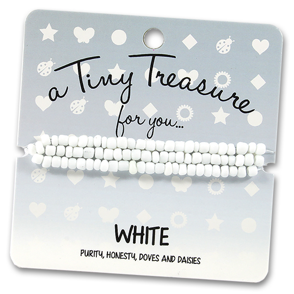 Tiny Treasures Bracelet: White