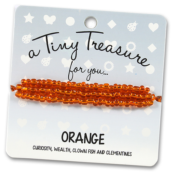 Tiny Treasures Bracelet: Orange