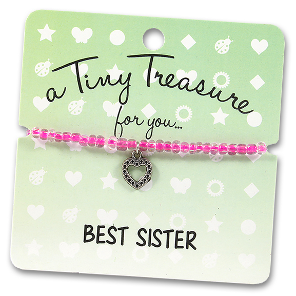 Tiny Treasures Bracelet: Best Sister