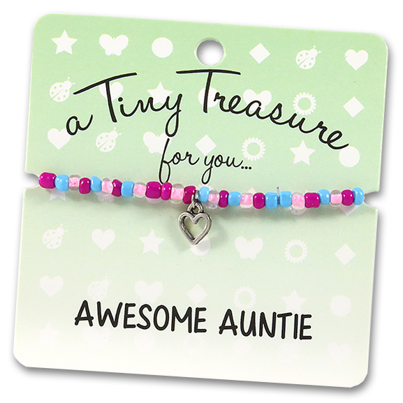Tiny Treasures Bracelet: Awesome Auntie