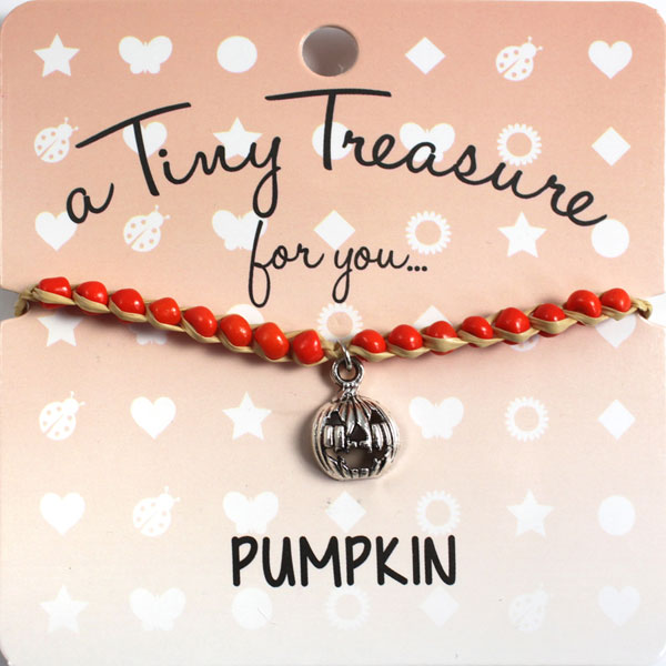 Tiny Treasures Bracelet: Pumpkin