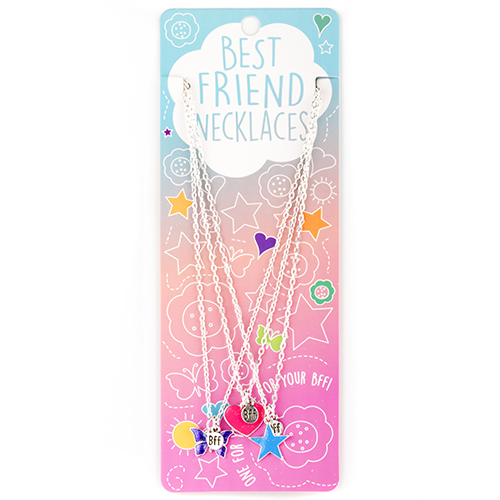 Best Friend Necklace Set: #10 Heart, Butterfly, Star