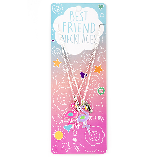 Best Friend Necklace Set: #14 Flamingos