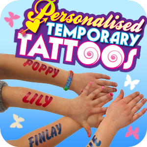 Personalised Temporary Tattoos