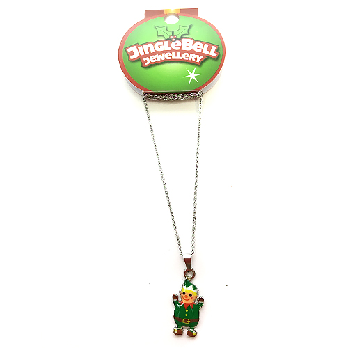 Christmas Elf Metal Necklace