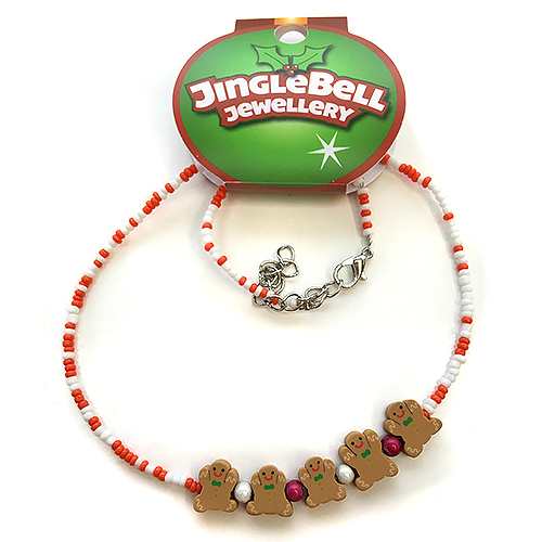 Christmas Gingerbread Fimo Necklace