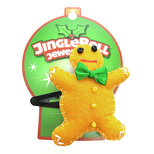 Christmas Gingerbread Hair Clip Accessory