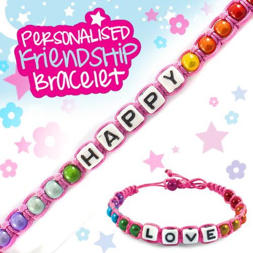 efc7dabe4533d Happy - Personalised Friendship Bracelet Stands Out Ltd   Buy UK ...