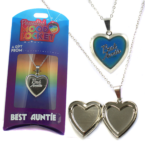 Personalised Mood Locket: Best Auntie