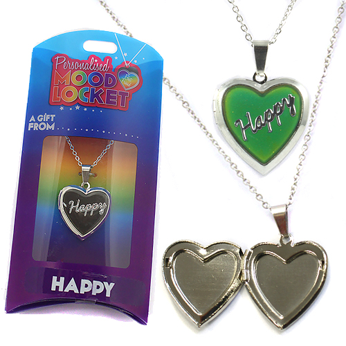 Personalised Mood Locket: Happy