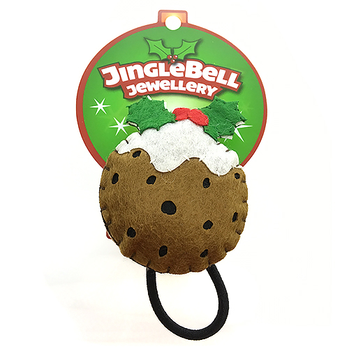 Christmas Pudding Hair Bobble Accessory