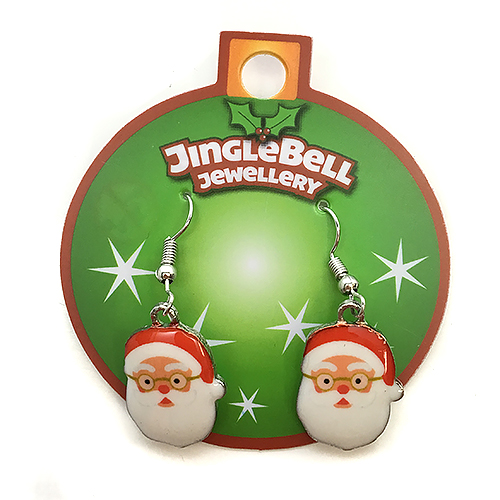 Christmas Santa Metal Earrings