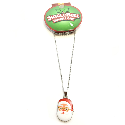 Christmas Santa Metal Necklace